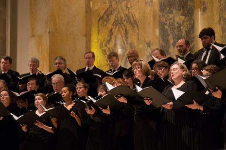 The Cantata Singers perform Torah Service