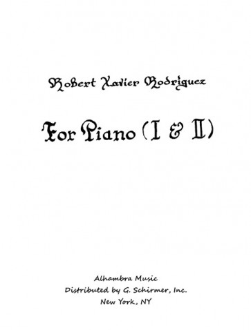 For Piano I and II