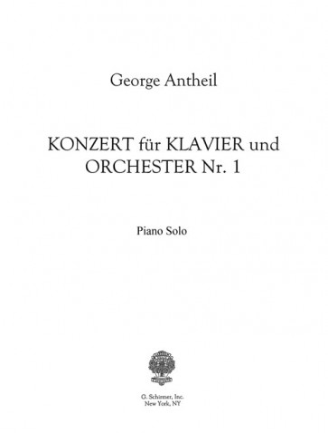 Concerto No. 1 for Piano and Orchestra