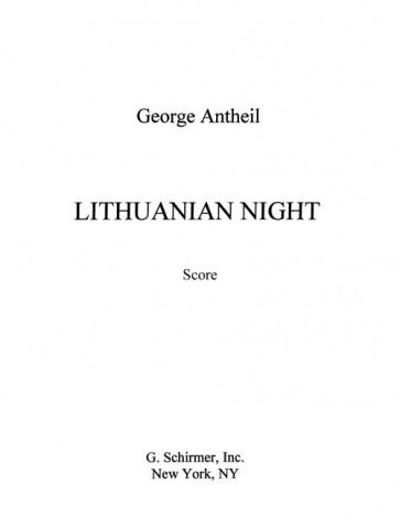 Lithuanian Night (string quartet)