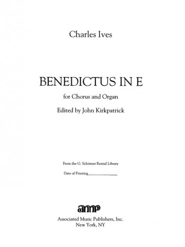 """Benedictus in E - """"Blessed be the Lord God of Israel"""""""