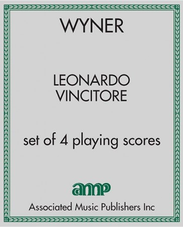 Leonardo Vincitore - set of 4 playing scores