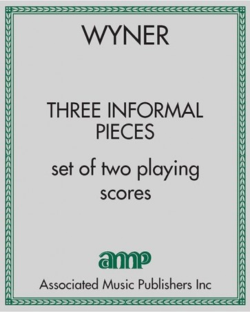 Three Informal Pieces - set of two playing scores