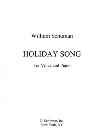 Holiday Song (for voice and piano)