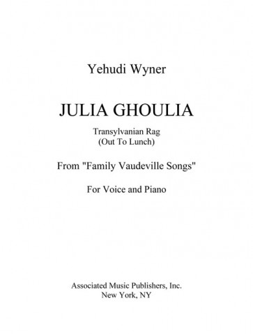 """Julia Ghoulia Transylvania Rag (Out to Lunch) (from """"Family Vaudeville Songs"""")"""