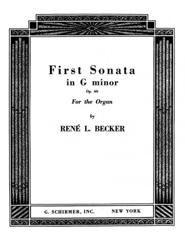 First Sonata in G minor - Sontata No. 1