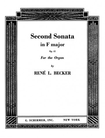 Second Sonata, in F