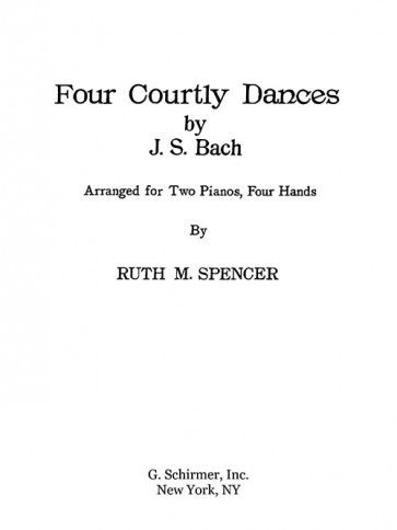 Four Courtly Dances (arr.)