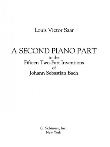 A Second Piano Part to Accompany the 15 Two-Part Inventions