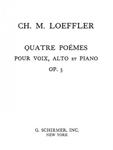 Quatre Poemes (Four Poems), Op. 5 - extra vocal score