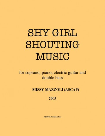 Shy Girl Shouting Music