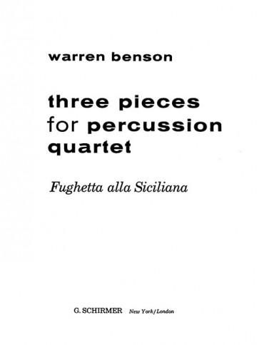 "Fughetta alla Siciliana from ""Three Pieces for Percussion Quartet"""