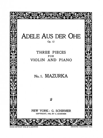 Mazurka - No. 1 from Three Pieces for Violin and Piano