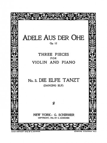 Die Elfe Tanzt (Dancing Elf) - No. 3 from Three Pieces for Violin and Piano