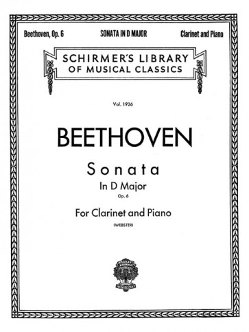 Sonata, Op. 6 (for clarinet and piano