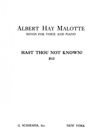 Hast Thou Not Known
