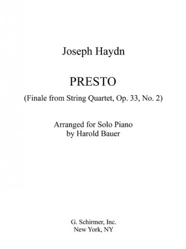 Presto (Finale from String Quartet, Op. 33 No. 2, arranged for piano)
