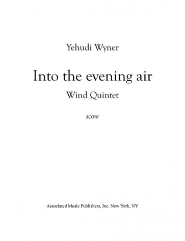 Into the Evening Air (Wind Quintet)