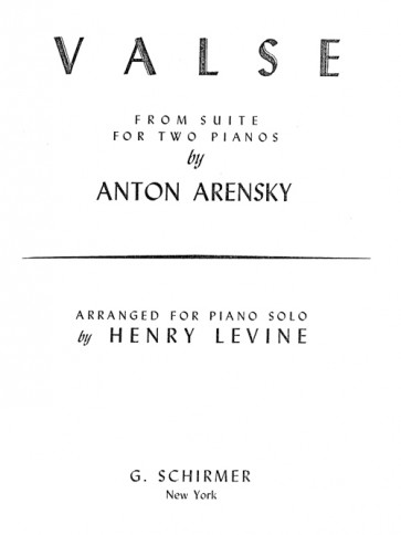 Valse (from Suite No. 1), arr.