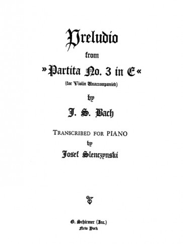 Preludio, from Partita BWV 1006 (arr.)
