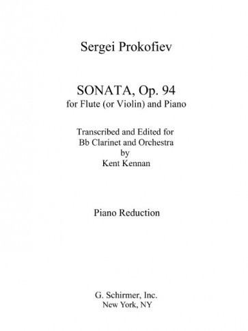Sonata for Clarinet and Piano, Op. 94