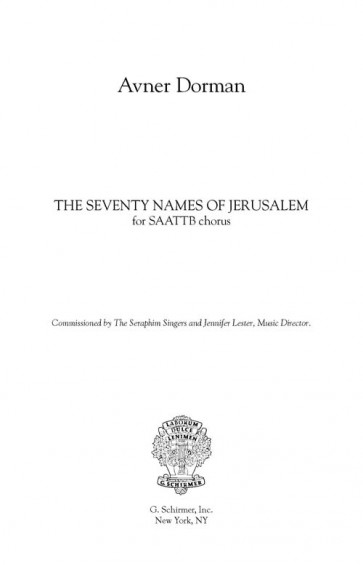 The Seventy Names of Jerusalem