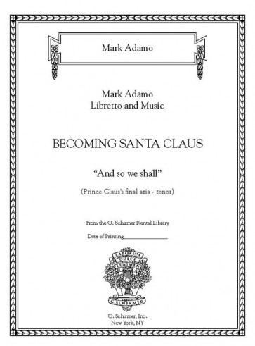 And So We Shall from 'Becoming Santa Claus'