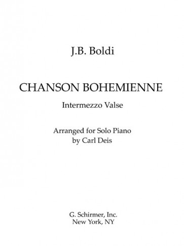 Chanson Bohemienne: Intermezzo Valse