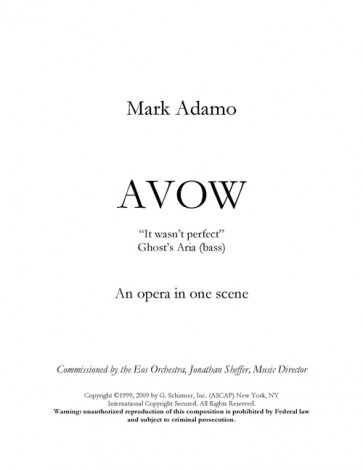 It Wasn't Perfect (from Avow)