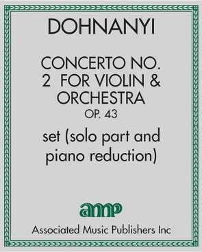 Concerto No. 2  for Violin & Orchestra, Op. 43 - set (solo part and piano reduction)