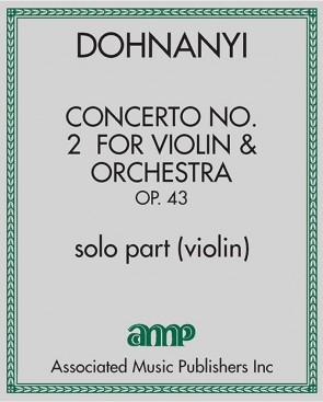 Concerto No. 2 for Violin & Orchestra, Op. 43 - solo part (violin)