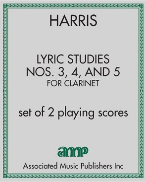 Lyric Studies Nos. 3, 4, and 5 for Clarinet