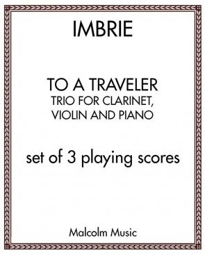 To a Traveler - Trio for clarinet, violin and piano