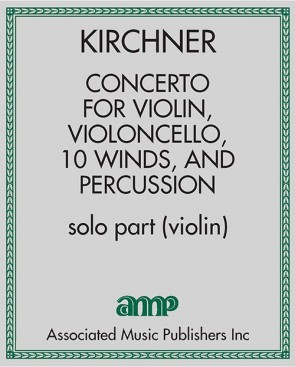 Concerto for Violin, Violoncello, 10 Winds, and Percussion - solo part (violin)