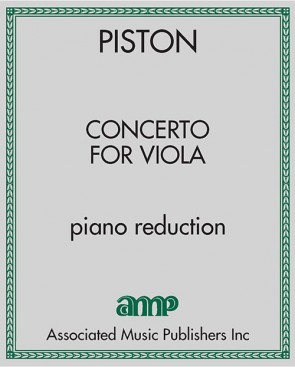 Concerto for Viola - piano reduction