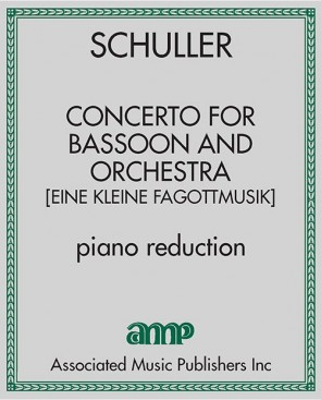 Concerto for Bassoon and Orchestra [Eine Kleine Fagottmusik] - piano reduction