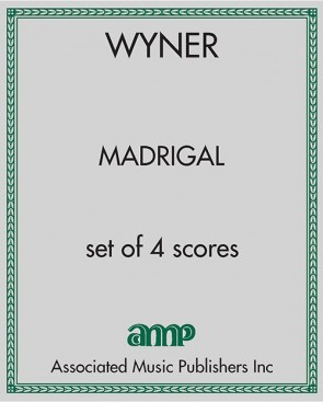 Madrigal - set of 4 scores