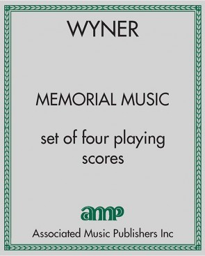Memorial Music - set of four playing scores