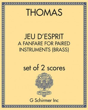 jeu d'esprit, a fanfare for paired instruments (brass)