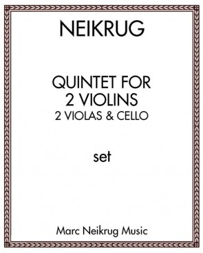 Quintet for 2 Violins, 2 Violas & Cello