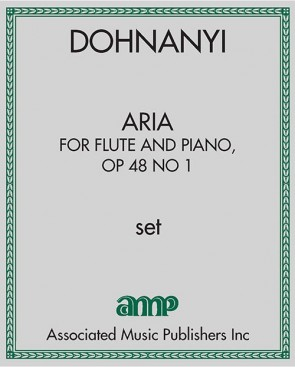 Aria, for flute and piano, Op. 48 no. 1