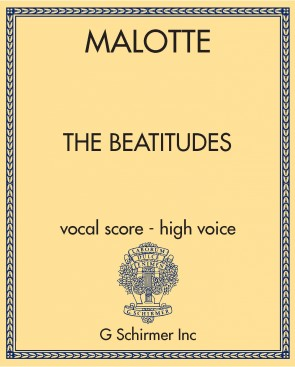 The Beatitudes - vocal score - high voice