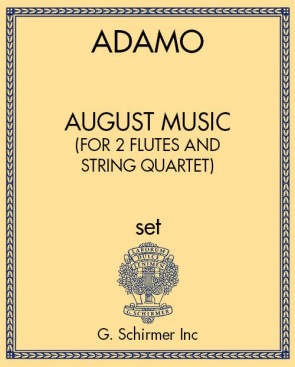 August Music (for 2 flutes and string quartet)