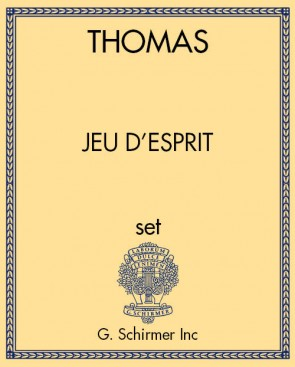 jeu d'esprit, a fanfare for paired instruments (oboes or clarinets)