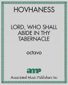 Lord, Who Shall Abide in Thy Tabernacle