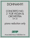 Concerto No. 2 for Violin & Orchestra, Op. 43 - piano reduction only