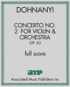 Concerto No. 2  for Violin & Orchestra, Op. 43 - full score