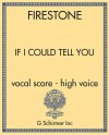 If I Could Tell You - vocal score - high voice
