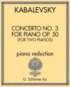 Concerto No. 3, Op. 50 for Piano (Version for Two Pianos)